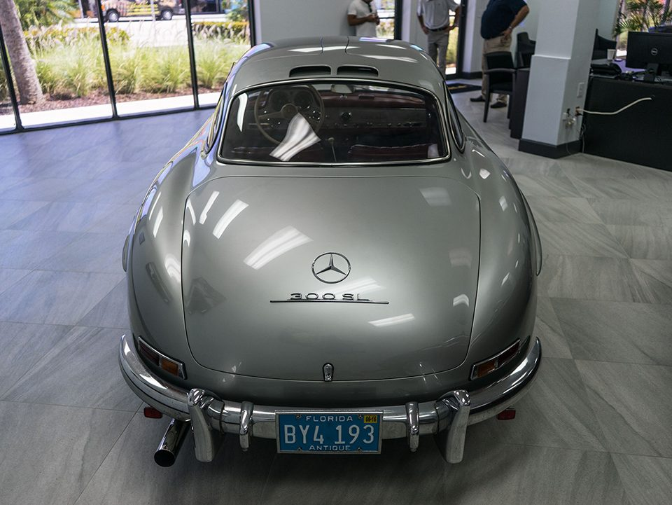Palm Beach Garage gullwing mercedes